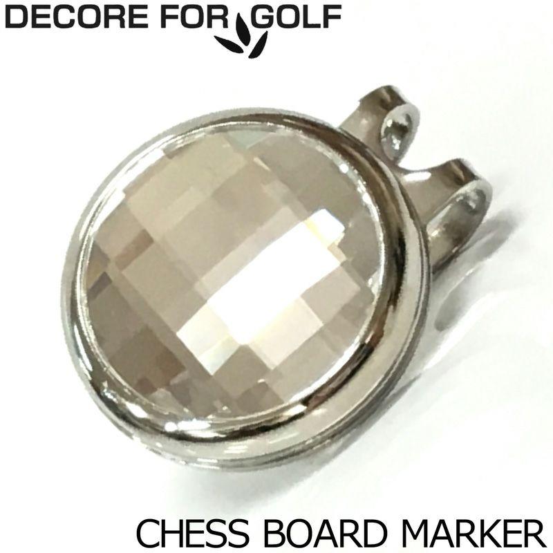 DECORE FOR GOLF(デコレフォーゴルフ) スワロフスキー チェスボード クリップ&マーカー