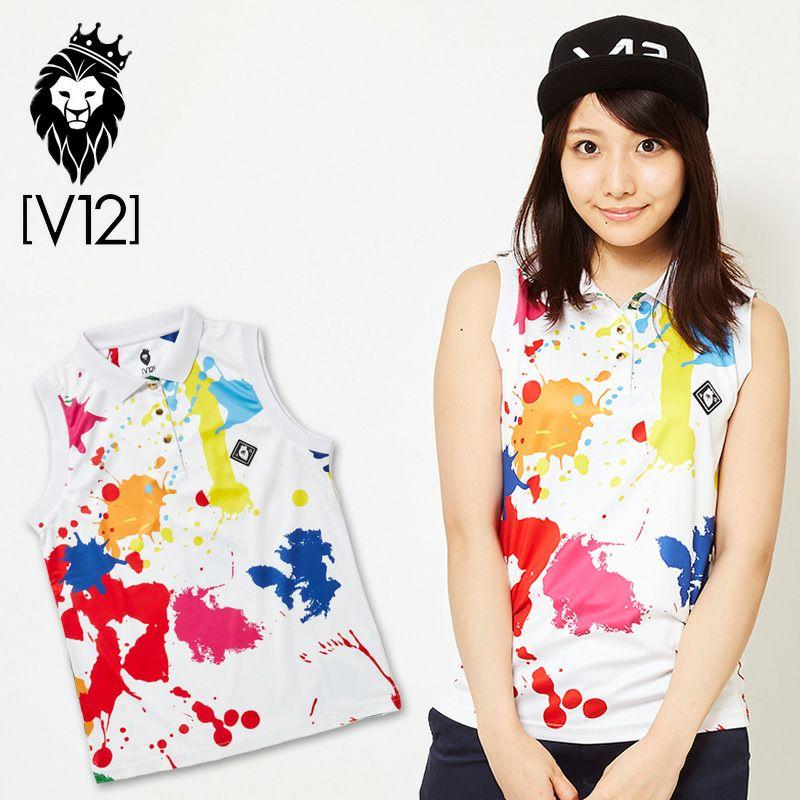 V12 レディース ノースリーブ ポロシャツ  V121910-CT06